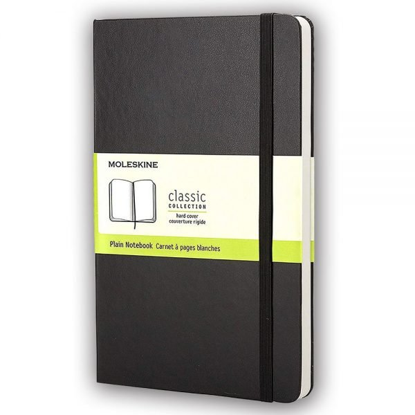 large moleskine hardcover plain notebook