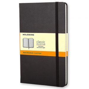 large moleskine hardcover ruled notebook